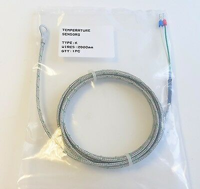 Thermocouple type K Washer style with 6.5mm I/D, 10mm O/D 2m leads