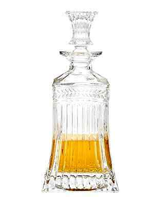 Godinger Silver Art Symphony Crystal Collection Square Whiskey Decanter 500 ml .