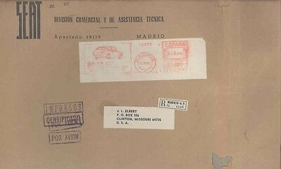 1972 Fiat SEAT Spain ORIGINAL EMPTY Factory Mailing Envelope wv9757