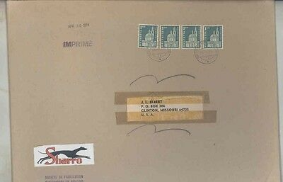 1974 Sbarro France ORIGINAL EMPTY Factory Mailing Envelope wv9763