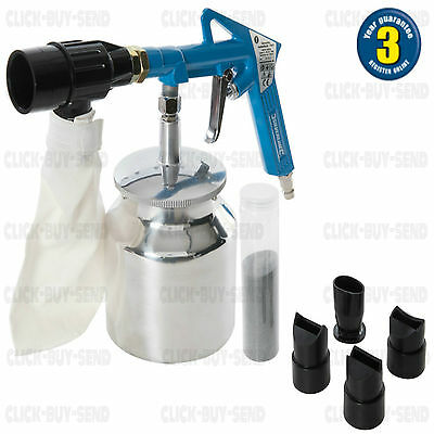 Air Compressor Recirculating Sandblaster Sandblasting Sand Blaster Blast Kit Set