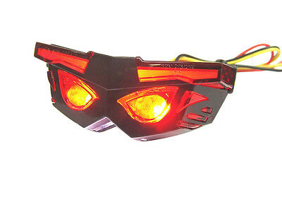 """""""Mask"""" Style LED Tail Lamp + Number Plate Universal fitment"""