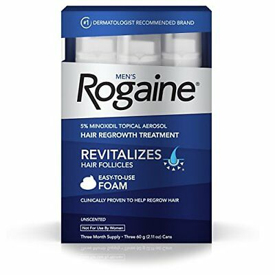 2 Pack Men's Rogaine 5% minoxidil topical Hair Regrowth Treatment 3 Month Each
