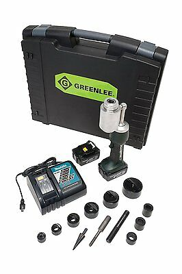 Greenlee LS100L11SB Battery Powered Punch Driver with Steel Conduit Punch Set
