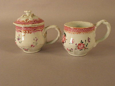 Chinese Export Porcelain Syllabub Cups  18/19Th Century