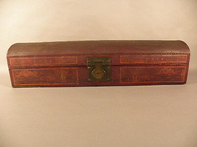 Chinese Painted Leather Box  19/20Th Cenetury