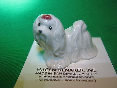 Hagen Renaker Dog Maltese 3370 Figurine Miniature Porcelain Ceramic NEW
