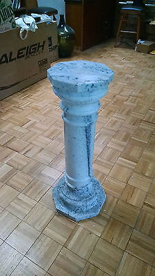 Stunning Antique Carved Dalmatian Marble Column Pedestal Display three Pieces