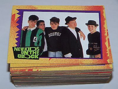 1990 Topps New Kids On The Block Trading Card Set (88 Cards/11 Sticker) EX/MT-NM
