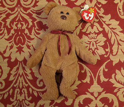 Ty Beanie Baby - Curly Bear with Hang Tag Errors (Origiinal, etc.) - Excellent!