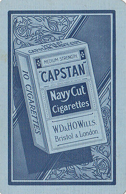 Cigarette tobacco advertising W D & H O Wills CAPSTAN navy cut swap playing card