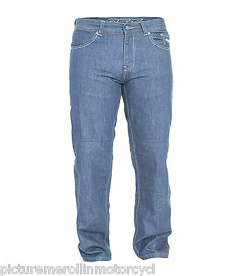 Rst Mens Motorcycle Pants T-125 Aramid Lined Protective Riding Jeans Blue T125