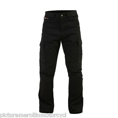 Rst Motorcycle Cargo Pants T-126 Aramid Lined Protective Riding Jeans Black T126