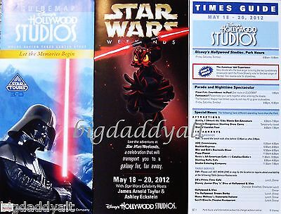 NEW DISNEY STAR WARS WEEKENDS 2012 OPENING DAY PARK GUIDE and MAP