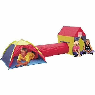 3 Way Kids Play Tent Dome Tunnel House Toys Garden Children Camp Outdoor Indoor