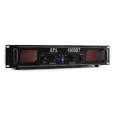 Skytec Spl 1000Bt Amplificatore Bluetooth 1000W Rca Aux Eq 3 Bande Rack 19Cm