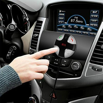 FM Transmitter Bluetooth Car Kit MP3 Player USB Charger Magnetic Handsfree SD TF