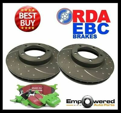 DIMPLD SLOT REAR DISC BRAKE ROTORS+PADS for Toyota Landcruiser HDJ80 HZJ80 92-98