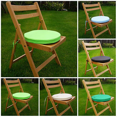 2x Round Garden Chair Cushion Pad Waterproof Outdoor Stool Patio Dining Seat Pad