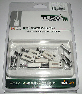 "Graphtech Pq8000 Tusq Strat And Tele Style Saddles 2 1/16"" Spacing"