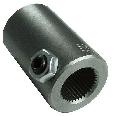 Borgeson 312500 Steering Coupler, Steel, 11/16-36 X 3/4 Smooth Bore