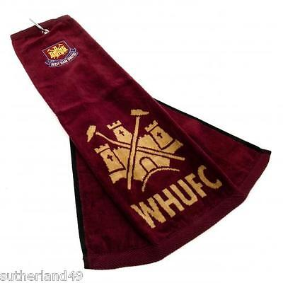 West Ham United FC Trifold Golf Bag Towel Hammers