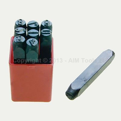 Number Stamps Plate Punching Marking Set Jewellery Watch Maker Tools 6mm 8mm