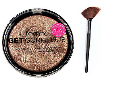Technic Get Gorgeous Bronze Highlighting Powder Bronzer Highlighter 12g