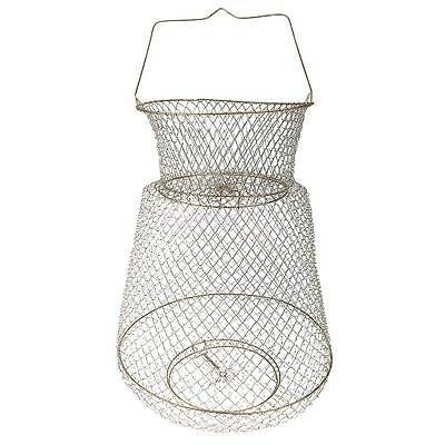 Metal Wire Collapsible Fish Lobster Mesh Fishing Net Prawn Fish Cage