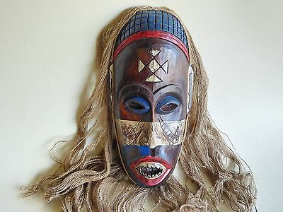 Unusual Wooden Hand Carved Mask African Congo Tribal Ethnic Style.....Design 3