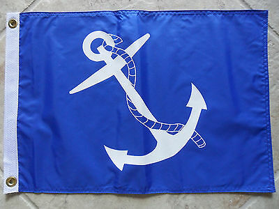 """12""""x18"""" Nautical: Port Captain Flag Dbl Sided Nylon Boat/yacht Made In Usa"""