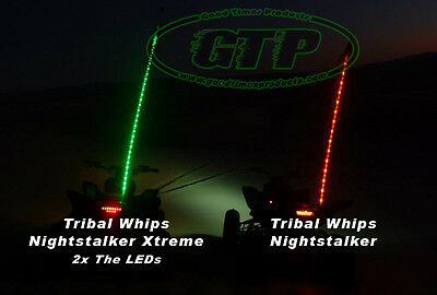 Tribal Whips 4' Nightstalker Xtreme LED lighted Whip 6 colors Sale 2 for $130