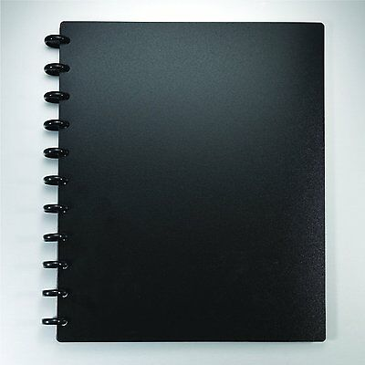 "Staples Arc Customizable Durable Poly Notebook System, Black, 9-3/8"" x 11-1/4"""