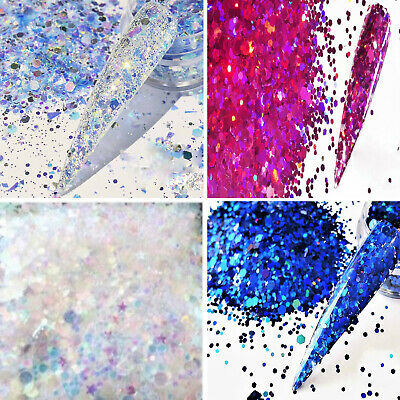 FESTIVAL SUMMER SIZZLERS NAIL ART FACE BODY GLITTER CHUNKY FINE MIXES 5g