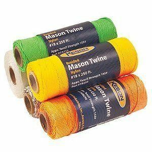 Keson Mason Twine Braided Nylon 250' Roll Orange 8129