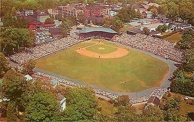 Cooperstown NY Air View MLB HOF Game at Doubleday Field 1960s Postcard
