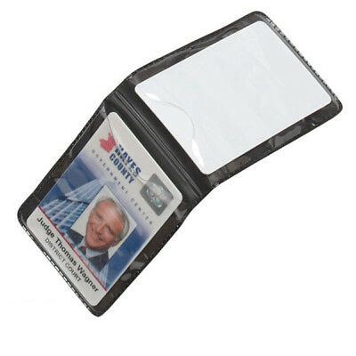 10 Pack Lot - Magnetic Vertical 2-Card ID Badge Holders - For Shirt Chest Pocket