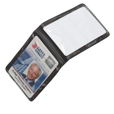 Magnetic Vertical 2-Card ID Badge Holder - For Shirt Chest Pocket - Heavy Duty
