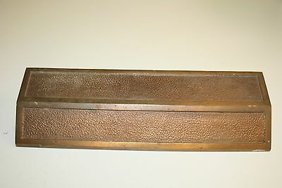 Vintage Antique Industrial Thick Aged Solid Brass Mailbox Slot Cover CA Rare