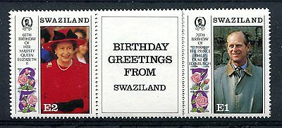 Swaziland 1991 Queen and Prince Philip Birthdays #2 MNH