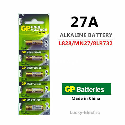 GP 27A A27 MN27 2C5 L828 Battery 12V Single Use Alkaline Battery