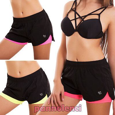 shorts woman cover-up robe shorts swimwear fluo sport fitness new WS5108
