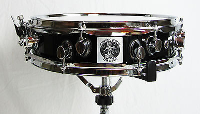 "Piccolo Snare Drum 14"" x 3.5"" 100% Birch Shell 7.2mm Piano Black Gloss NEW"