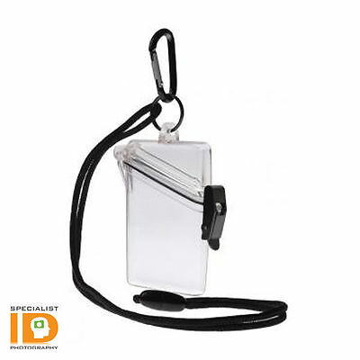 Witz See It Safe Clear Waterproof ID Badge Holder 00411 - Translucent Dry Case