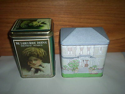 Ladies Home Journal (Replica) & Sutter House Winery Victorian House 2 Tins Lot
