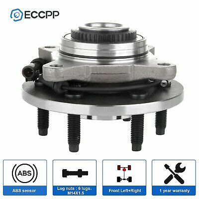 New Front Driver or Passenger Wheel Hub and Bearing Assembly W/ABS 4WD 4X4 6 Lug