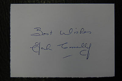 John Connelly  Signed 1966 England World Cup Winners Football Card