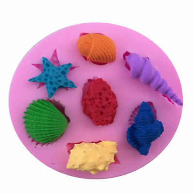 3D Conch Shell Silicone Mould DIY Sea Theme Chocolate Cookie Soap Mold Decor