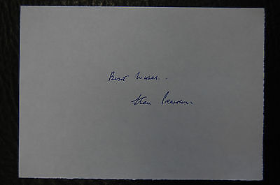 Stan Pearson  Manchester United 1948 Fa Cup Winners  Signed Card