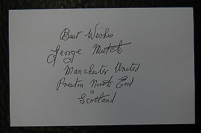 George Mutch Manchester United & Scotland  Signed Card
